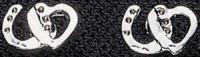 Exselle Heart and Horseshoe Earrings - Platinum