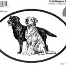 Labrador Retrievers Dog Oval Decal