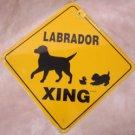 Labrador Dog Xing Yard Sign