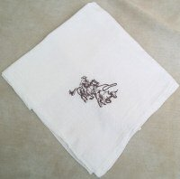 Calf Roper Flour Sack Dish Towel