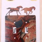 Lazart Galloping Horses Double Switch Plate