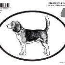 Beagle Dog Oval Decal