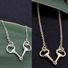 Snaffle Bit Pendant Necklace - Platinum