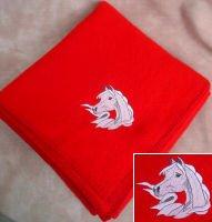 Arabian Horse Red Fleece Throw Blanket