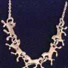 Running Horse Pendant Necklace - Platinum
