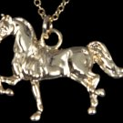 Show Horse Pendant Necklace - Gold