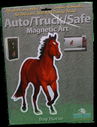 Bay Horse Auto/ Truck/Safe Magnetic Art