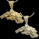Drinkers of the Wind Horse Head Gold Pendant