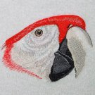 Macaw Head White Embroidered Bath Towels