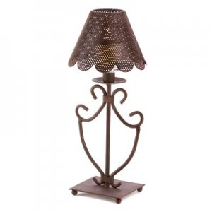 Country Crafted Candle Lamp