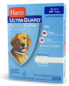 Hartz Ultra Guard Flea & Tick Collar For Dogs White 26 Inch (5 PAK)