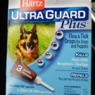 Hartz Ultra Guard Plus Over 60 lbs Flea & Tick For Dogs 3 Treatments (4 PAKS)