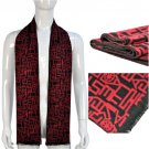 mens's scarf with ancien letters,NL-1840