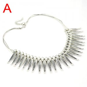 leaf metal collar necklace,NL-1731