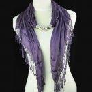 lavender colour tassel scarf ,NL-1316e
