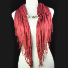 charming bright red dreamy scarf,NL-1316b