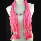 diamond enamel lace beads necklace hanging center scarf,NL-1335A