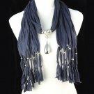 lady's fashion long tassel scarf ,NL-1221D