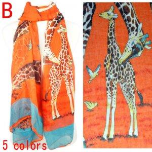 women Giraffe printing summer scarf,hot and fashion,NL-1862