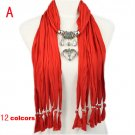 jewellery charm pendant scarves and wraps,10 colors.NL-1790