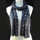 rivet navy color scarf ,NL-1493C