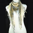 Sexy Leopard grain tassel scarf ,NL-1491A