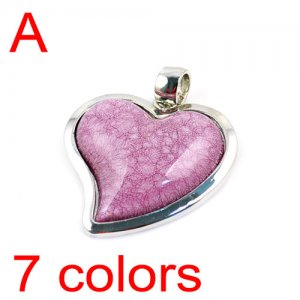 6 colors Heart resin stone pendant scarf accessories DIY jewelry findings PT354