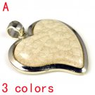 Heart-shaped DIY jewelry findings scarf accessories pendant resin stone. PT-555
