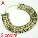 Metal oversized choker fashion jewelry necklace 2 colors collar, NL-1539