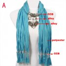 Fashion 10 colors bright-coloured butterfly pendant scarf free shipping, NL-1789
