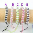 25 pcs wholesale handmade knit beads lucky bracelets friendship bracelet BR-1218