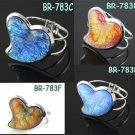 New Resin heart shape bangle cuff bracelet 4 colors fashion jewelry, BR-783