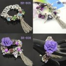 New nice 3 colors fashion tassels bracelets beads flower charm woman jewelry