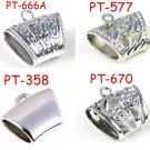 Mix 4 designs 120 pcs CCB bails bulk jewelry scarf bails DIY accessories tube