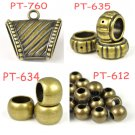 Antique Bronze tone beads CCB plastic DIY jewelry findings scarf accessories lot
