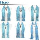 Blue scarf group mix design fashion winter jewelry scarf winter shawl lot retail