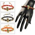 Handmade rope weaving skull charms bracelet friendship funny bracelet BR1385