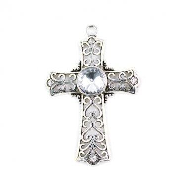 5 pcs/lot big stone cross pendant DIY jewelry scarf accessories charms PT-321