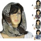 Python snake print loop scarf infinity hood scarf Tropical forest safety NL-1938