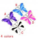 1 Metal butterfly pendant enamel scarf accessories DIY jewelry findings PT-646