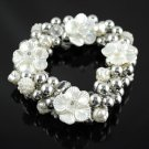 bridal beads bracelets flower charms elastic size fashion women jewelry BR-1010A