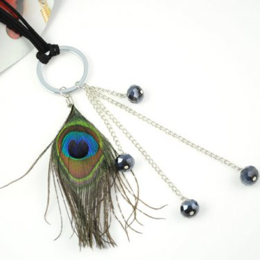 vintage style peacock feather charms necklaces fashion woman accessory NL-1459