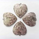 20 pcs CCB heart pendant silver color DIY jewelry scarf charms gorgeous pattern