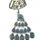 peacock scarf charms antique brass color alloy DIY jewelry scarf accessories