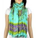 wrinkle spring flower printing scarves large scarf fashion woman shawl NL-1984A