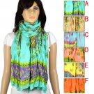 Spring colorful scarf beach towel fashion woman wrinkle style shawl lot NL1984