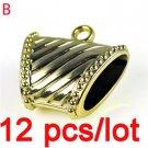12 pcs/lot golden DIY jewelry findings Scarf clasp pendant tube bails PT-301B