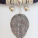 1 set Metal leaf charms with CCB beads DIY jewelry scarf pendant shawl fashion