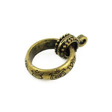 New Metal antique bronze rings DIY jewelry findings pendant scarf bails PT-395