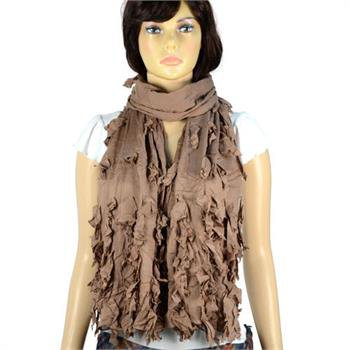 Vintage tassel broken design frilly women winter scarves shawl polyester NL-2000